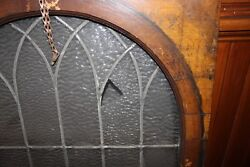 Antique Stain Glass Clear Mounted On Wood