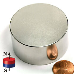 Cms Magnetics N42 Super Strong Neodymium Magnet Disc 2 X 1 Rare Earth Magnets