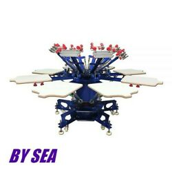 8 Color 8 Station Micro-registration Double Wheel Overprinting Screen Printing