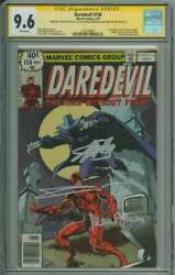 Daredevil 158 Cgc 9.6 White Pages // Signed By Stan Lee/janson/miller/shooter