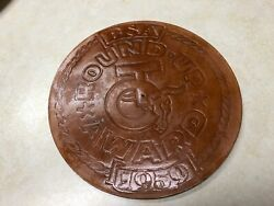 1959 Boy Scout Leather Round Up Award - 7