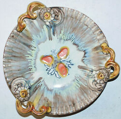 Beautiful Old Vintage Pottery Serving Bowl 11.65 Diameter Mystery Mark Help