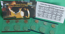 1995 P And D Us Mint Annual Uncirculated 10 Coin Set Bu Philadelphia And Denver