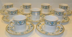 12 Excellent Sets Mikasa Maxima Cam07 Romanaire Fine China Teacup Cups And Saucers