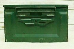 Vintage WWII Modern Cal 50 M2 Ammo Box Can US Army Flaming Bomb Good Condition