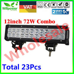 23pcs 12inch 72w Led Work Light Bar Spot Flood Combo For Off Road Suv Car Truck