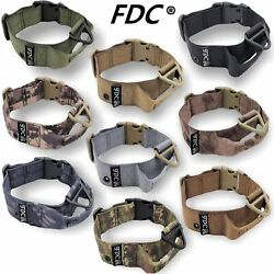K9 Dog Tactical Collar HEAVY DUTY with Handle Military Army Training M L XL XXL