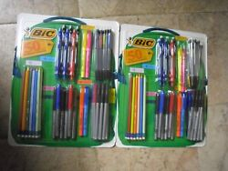 2 X 50ct BIC Backpack Supplies Pack Includes Pens Pencils Markers Highlighters $35.95