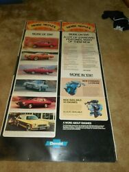 Dealership Showroom Promotional Sign 1978 Chevrolet Monza Coupe Square Display