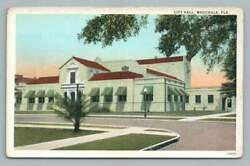 City Hall WAUCHULA Florida~Hardee County FL Rare Antique Postcard 1910s