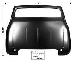 1953-55 Ford Pickup Truck Cab Back Panel Small Window W/o Gas Filler Hole