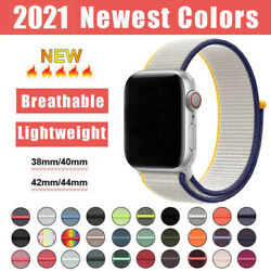 For Apple Watch Series Se/6/5/4/3/2 Nylon Sport Loop Iwatch Band Strap 44mm 40mm