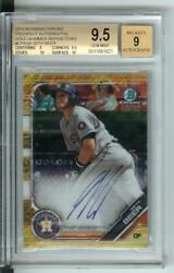 2019 Bowman Chrome Gold Shimmer Refractor Sb Seth Beer Bgs 9.5 Auto 9 46/50
