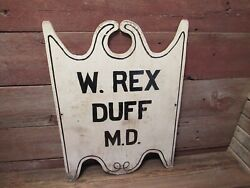 Vintage Wood Physician Doctor Wall Wood Sign W. Rex Duff M.d. Doctor