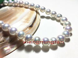 Australia Top 2412-13mm Real Natural South Sea Round White Pearl Necklace 14k