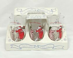 Love Is The Magic Of Christmas Holly Hobbie Glasses America Greeting In Case