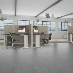 6x6 Cubicles- 54 H- 2 Man L Shape Back-to-back Fabric Office Workstations-e