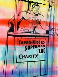 Mr Clever Art Super Kisses From Superman Painting Contemporary Urban Street Pop