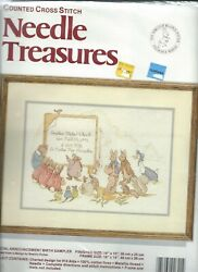 Needle Tresures Counted Cross Stitch kit Beatrix Potter Bith Annoucement