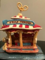 Blue Sky Heather Goldminc Disney Mickey Jolly Trolley Rare Collectible Clayworks