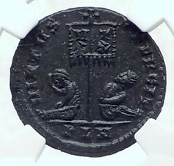 Constantine I The Great Authentic Ancient London Roman Coin Captives Ngc I81122