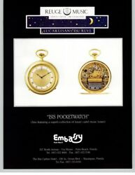 Reuge Music Isis Pocketwatch - Embassy Palm Beach 1992 Print Ad
