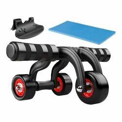 Abdominal Roller Core Exercise Bodybuilding Fitness Gym Equipment 3 Wheels