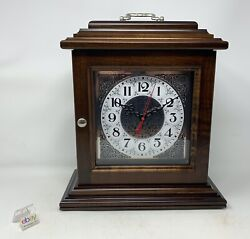 Amish Crafted Antique Shelf Clock - Brown Maple Wood With Dark Stain - New
