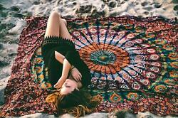 Ombre Mandala Hippie Wall Tapestry Home Picnic Sheet Bohemian Tapestry Throw