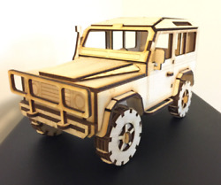Land Rover Defender 90 3d Puzzle Birch Plywood Laser Craft, Model, Collectible