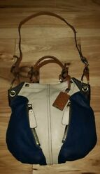 Dr Yany Hobo Bag dark Purple taupe Leather hobo Gold Hardware Zippers PERFECT $55.99