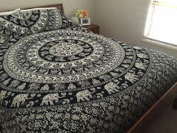 Indian Mandala Bedspreads Hippie Bohemian Bed Cover Throw Decor Tapestries Art