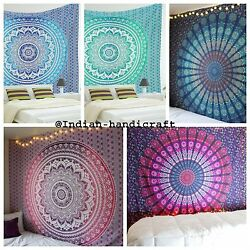 Indian Dorm Decor Tapestry Hippie Bohemian Single Size Bedding Bedspreads Throw