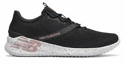 New Balance Women's CUSH+ District Run Shoes Black with Pink