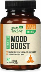 Mood Boost Support For Stress And Anxiety Relief 1100mg Serotonin Production Pills