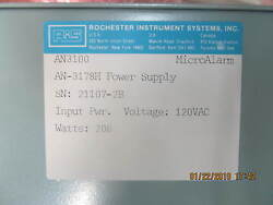Rochester Instrument Systems Power Supply An-3178h Sn21107-2b And Sn21107-1b