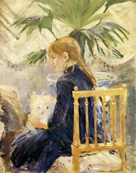 Beautiful Girl With Dog 1886 Canvas Print Painting Wall Art Home Décor