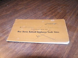 1959 New Haven Railroad Employees Credit Union Savings Account Book
