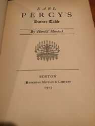 Harold Murdock / Earl Percy's Dinner-table First Edition 1907