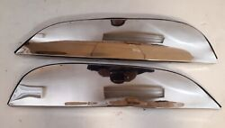 1965 1966 Pontiac Fender Skirts. Stainless Steel Polished Flush Mounted. Pair