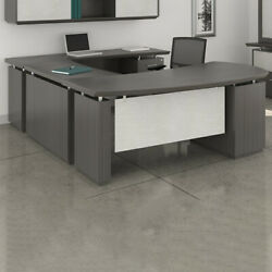 Modern U-shaped Executive Desk With Optional Hutch And Cabinet New