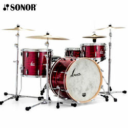 Sonor Vintage Series 22 3pc Shell Pack W/bd Mount - Vintage Red Oyster