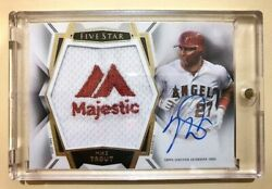 2019 Topps Five Star Autograph Jumbo Patch Mike Trout AUTO MAJESTIC PATCH 1/1