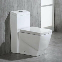 Woodbridg T 0020 Dual Flush Elongated One Piece Toilet Square Design