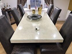 Stone International Marble Dining Table And 6 Chairs