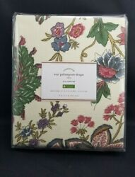 4 Pottery Barn Floral Resi Palampore Panel Drape Cotton Lined 50x 108 4578