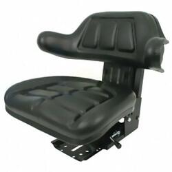 Black Wrap Back Tractor Suspension Seat Fits Ford / Fits New Holland 600 601 800