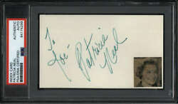 Patricia Neal D.2010 Actress Breakfast At 's Signed 3 X 5 Index Psa/dna