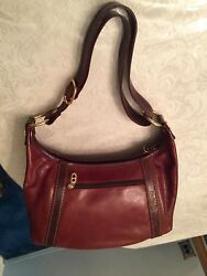 ORIGINAL MARINO ORLANDI ITALIAN DESIGNER BROWN LEATHER  BAG  NEW WITH OUT TAGS.