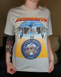 Vintage Aerosmith Done With Mirrors 1986 Tour T-shirt Size Large Made In Usa
